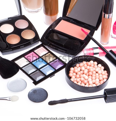 makeup set isolated on white background #106732058
