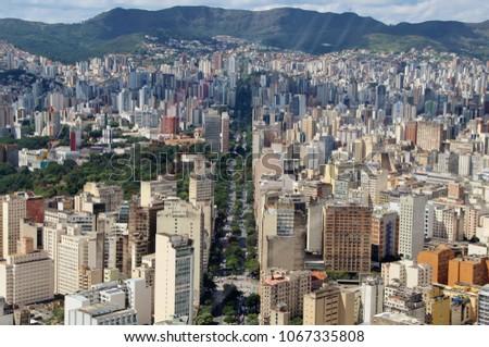 "Aerial urban view – City of ""Belo Horizonte"", Brazil #1067335808"