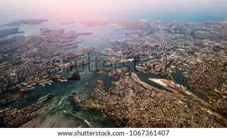 Australia Sydney panoramic view of the city Royalty-Free Stock Photo #1067361407