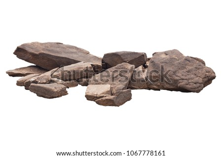 rock isolated on white background  Royalty-Free Stock Photo #1067778161