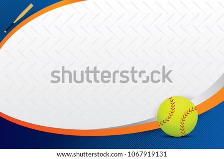 Softball design background. Vector illustration