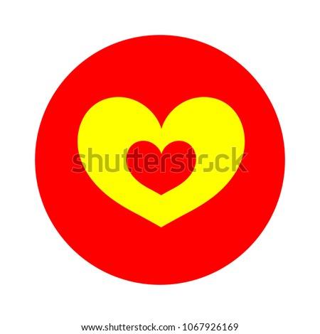 heart love icon - heart symbol, valentine day - romance illustration isolated #1067926169