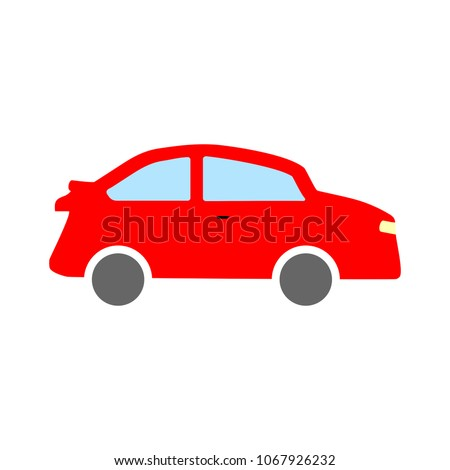 car illustration isolated - vector car, transportation vehicle -  automobile design #1067926232