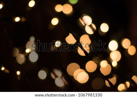 Gold Abstract bokeh Background from small bulbs #1067981330