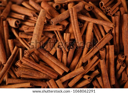 Cinnamon sticks in a bazaar Royalty-Free Stock Photo #1068062291