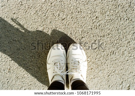 Pictures of white sneakers #1068171995