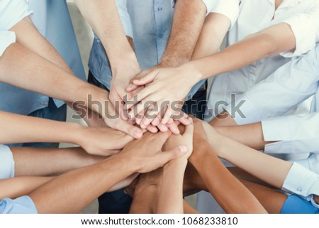 Hand teamwork young business #1068233810