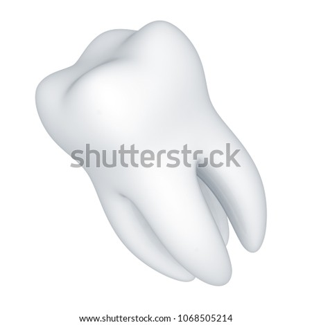 Tooth. 3D Illustration. #1068505214