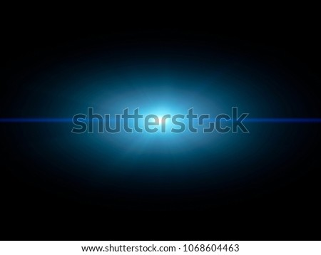 Blue light special effect against a dark background illustration. #1068604463