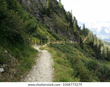 Hiking trails Austria. #1068773279