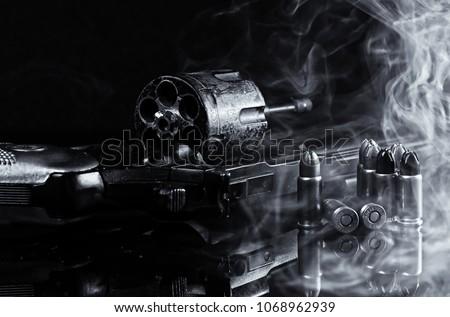 Gun Revolver Pistol Weapon #1068962939