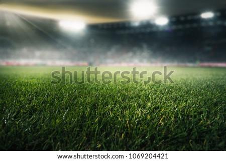 Soccer in a stadium #1069204421