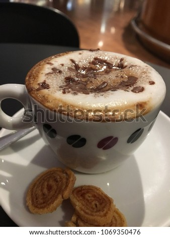 coffee with biscuits #1069350476