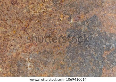 Very rusty metal sheet texture #1069410014