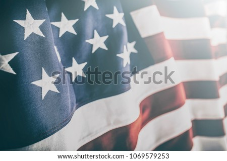 American flag for Memorial Day, 4th of July or Labour Day #1069579253