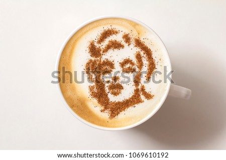 coffee cappuccino image of a woman