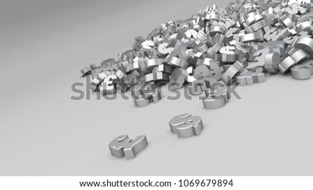 3D Render of Abstract Alphabet Background #1069679894