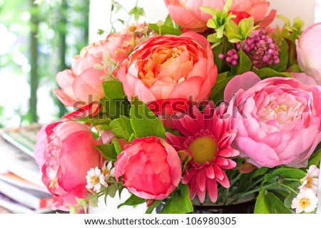 flowers bouquet arrange for decoration in home #106980305