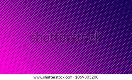 Gradient halftone pattern diagonal vector illustration. Pink dots, blue halftone texture. Pop Art blue pink halftone, comics Background. Background of Art. EPS10