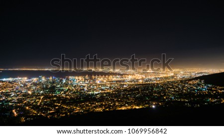 Cape Town Cityscape at night #1069956842