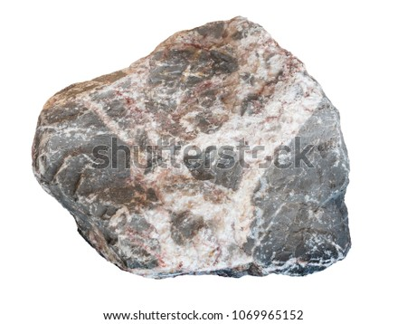 real big stone granite isolated on white background #1069965152