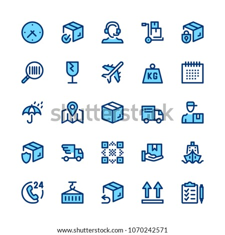 Delivery, logistics line icons set. Modern graphic design concepts, simple symbols, elements, pictograms collection. Minimal thin line design. Premium quality. Pixel perfect. Vector outline icons