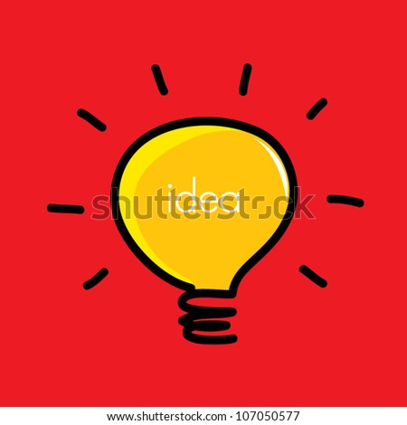 light bulb idea vector illustration #107050577