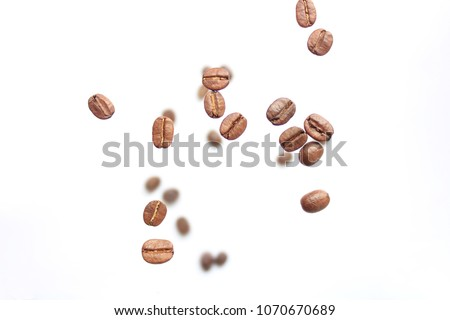 Coffee bean on white. Coffee cafe. #1070670689