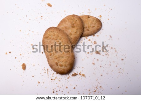 honey flavored wheat biscuits with the latest flavor variant white background #1070710112