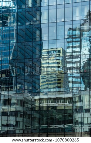Reflections in windows. #1070800265
