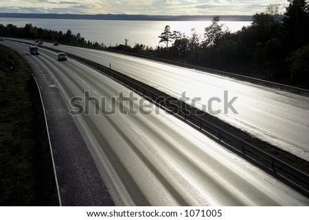 motorway at sunset #1071005