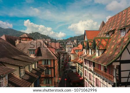 French Village, Bukit Tinggi in Malaysia #1071062996