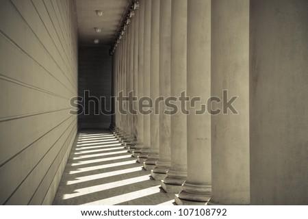 Pillars in a Row #107108792