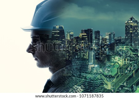 Industrial technology concept. INDUSTRY4.0 Royalty-Free Stock Photo #1071187835