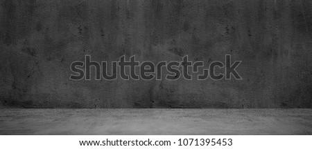 Blank concrete wide dark wall texture background #1071395453