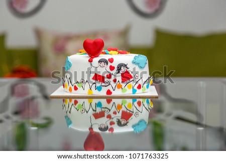 Happy chocolate cake #1071763325