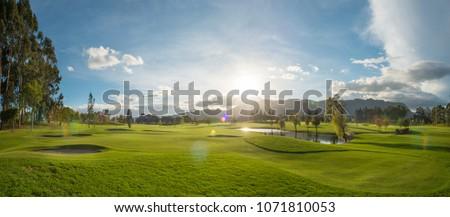 golf course sunset #1071810053
