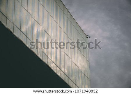 modern building with security camera