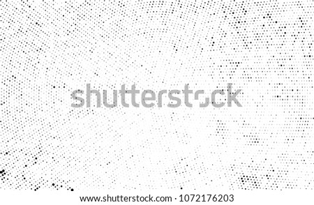 Black and white halftone. Abstract texture with radially spaced points #1072176203