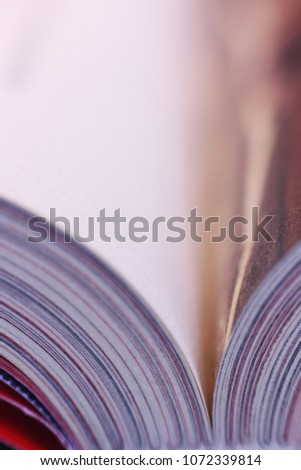 a book. background for design. abstract background for education. shallow depth of focus #1072339814