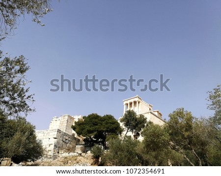 The temple of Nike on the Acropolis, Athens, Greece #1072354691