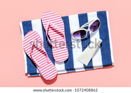 Summer beach holiday accesorries #1072408862
