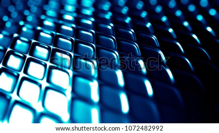 Turquoise metallic industrial grunge background. 3d illustration, 3d rendering. #1072482992
