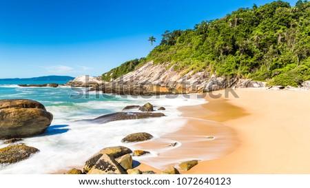 Balneario Camboriu, Santa Catarina, Brazil. Estaleirinho Beach. Beach in the southern region of Brazil. #1072640123