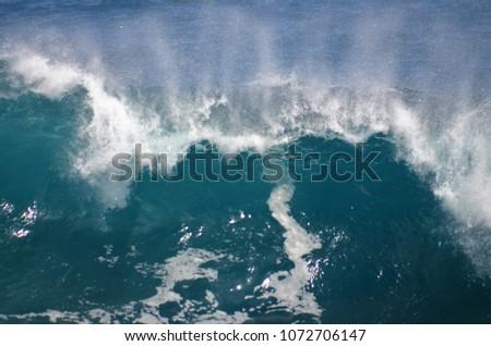 Sea wave breaking nicely, in the Atlantic Ocean of Tenerife #1072706147