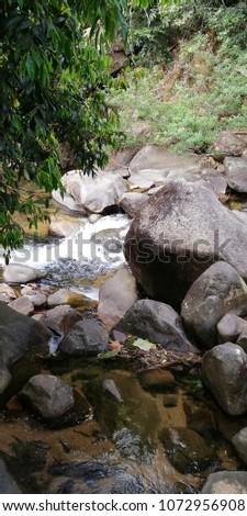 The rock in waterfall #1072956908