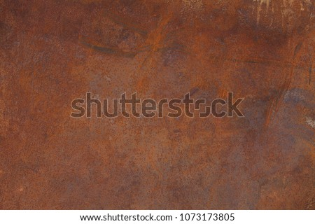 Grunge rusted metal texture. Rusty corrosion and oxidized background. Worn metallic iron panel. #1073173805