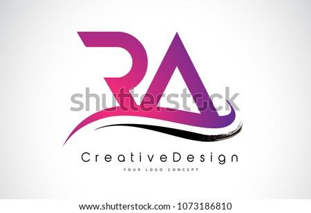 RA R A Letter Logo Design in Black Colors. Creative Modern Letters Vector Icon Logo Illustration. #1073186810