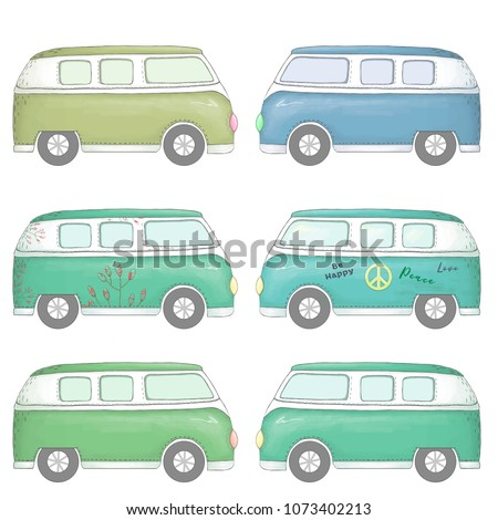 Travel and city. Bus. Car clip art