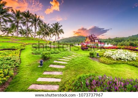 Chiang Mai, Thailand at Royal Flora Ratchaphruek Park. #1073737967